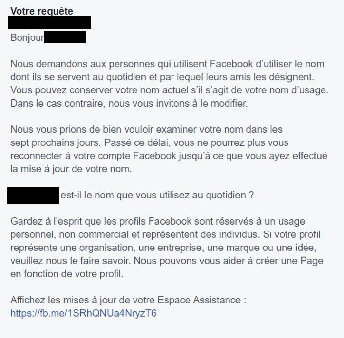 Profils Facebook